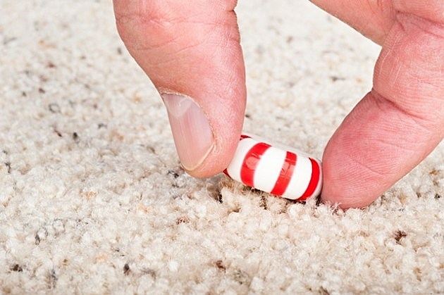 Candy stuck to carpet